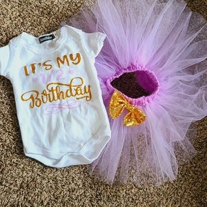 It's my 1/2 Birthday Outfit Tutu Photo shoot
